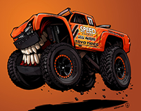 King Shocks and Robby Gordon's Trophy truck BeastedUp!