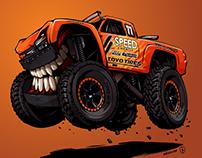 King Shocks and Robby Gordon's Trophy truck BeastedUp!