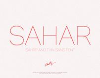Sahar-Thin Slender Sans (Free Download)