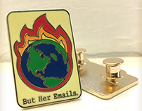2018 - But Her Emails. Enamel Pin