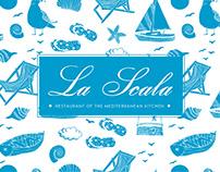 "Photo & menu design for Italian restaurant ""La Scala"""