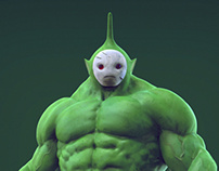 Teletubbies avenger : Dipsy, The Hulk