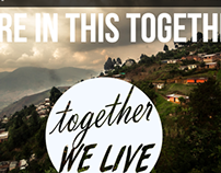 """Together We Live"" Website Design"