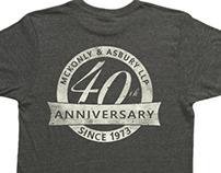 McKonly 40th Anniversary T-Shirt (Summer 2013)