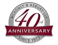 McKonly 40th Anniversary Logo (2013)