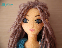 Almendra, my first handmade doll