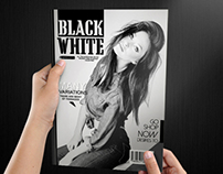 Black & White Magazine Template