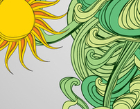 HTC summer campaign illustrations