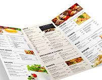 Maligans Restaurant Menu