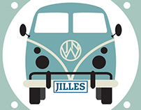 Birth Announcement Volkswagen Van