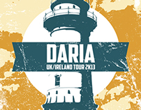 Daria-UK/IRL Tour poster