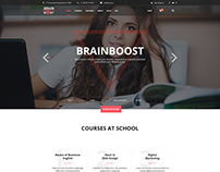 BrainBoost Education, School & Courses PSD Template