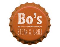 Bo's Steak & Grill Branding