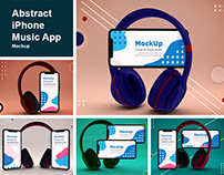 Abstract iPhone Music App Mockup