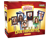 """Adventures in Odyssey """"Our Favorites"""" Package Design"""
