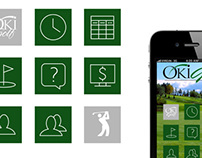 Icons for OkiGolf app