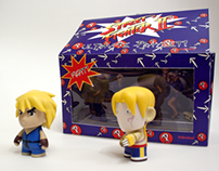 Kidrobot x Street Fighter Playset Packaging