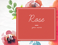 Souvenir & Postcards Design : Rose