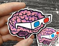 Die Cut Sticker Illustrations