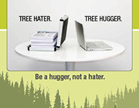 Campaign Poster: Be A Hugger