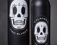 Calavera Wine Bottle Label