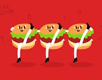 Tasty Illustration - 10.Dancing Hamburger