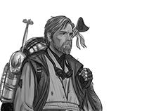Ben Kenobi Desert Nomad Statue Design