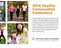 Healthy Communities Conference Sponsorship ad