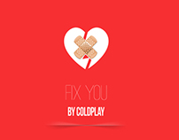 Minimal Music Posters | Fix you by Coldplay