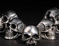 Fourspeed Metalwerks Skull Rings Collection Part Four