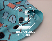 BIBLIOTEKOS JAUNIMUI // identity for library volunteers
