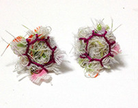 Earrings : fiber art jewelry