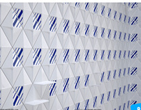 """Blue diamonds"" wall tiles group"