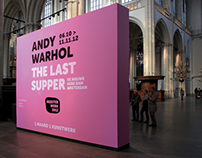 Exhibition campaign Andy Warhol, The Last Supper (pink)