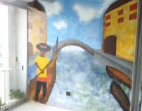 Balcony Graffiti-Venice