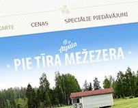Juku Dzirnavas webpage design.