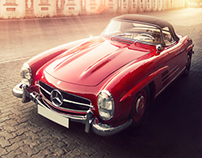 Mercedes 300 SL _ 1956 - Retouching