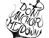 Anchor Typographical Illustration