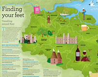 Illustrated Maps for Visit Kent Guide