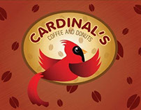 Cardinal's Donut and Coffee Branding