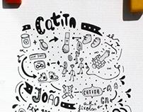 Catita e João invitation