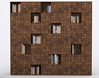 Click(Natural Wall) Bookshelf