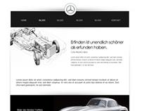 Webdesign for Mercedes Benz 300 SL Club
