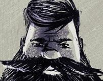 Beard illustration