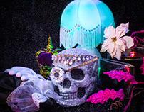 Glitter Skull Still Life