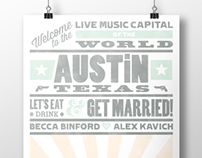 Becca and Alex Wedding Poster