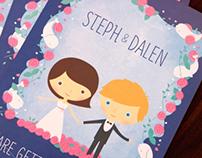 Illustrative Wedding Invites ~ Steph & Dalen