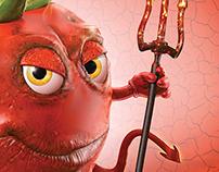 Glad Devil Tomato Character