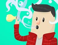 Fumate tus ideas / Smoke your ideas.