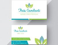 Identidade Visual e Cartão - Thaís C. Nutricionista